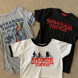 Other - Set of 3 Stranger Things girls Tees Size M